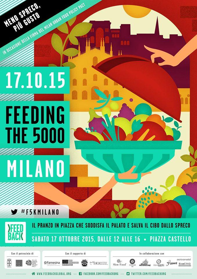 Feeding the 5000, in piazza a Milano contro lo spreco alimentare insieme ad Equoevento